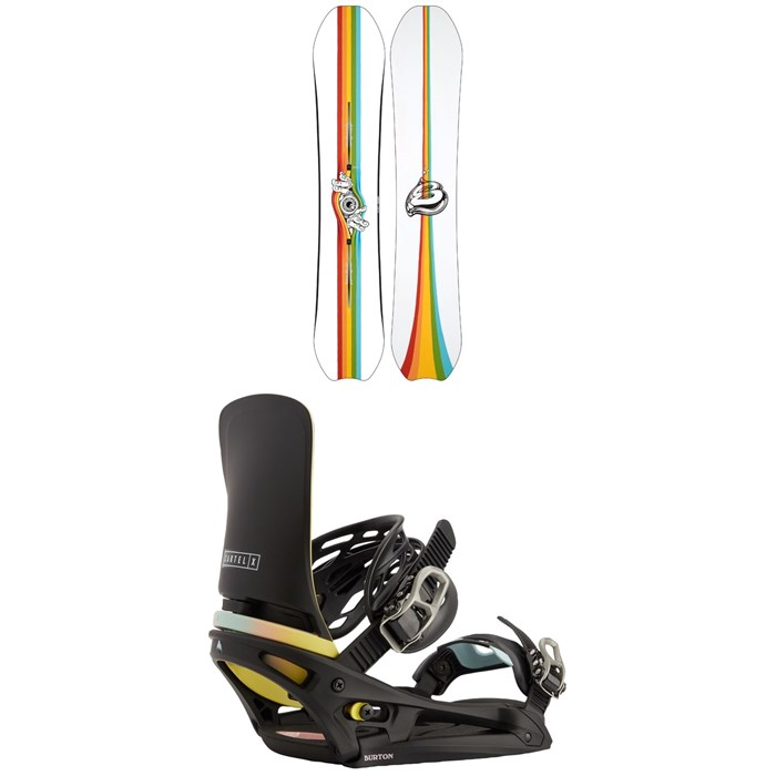 Burton - Deep Thinker Snowboard + Cartel X EST Snowboard Bindings 2021