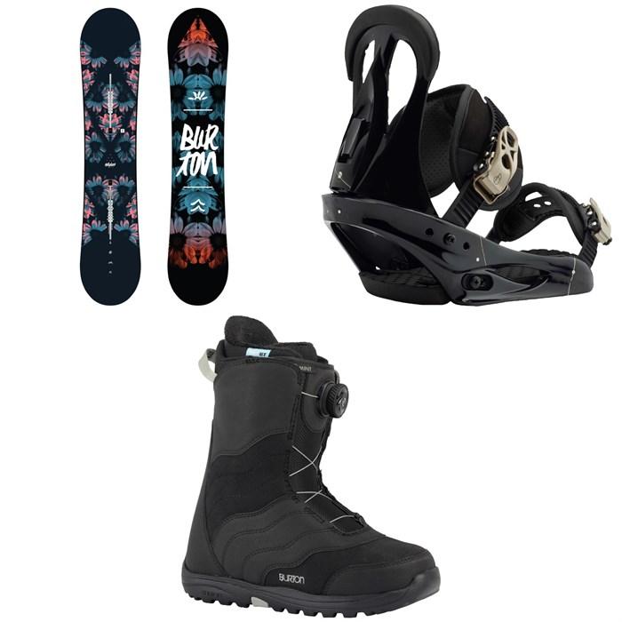 Burton - Stylus Snowboard 2020 + Citizen Snowboard Bindings 2019 + Mint Boa Snowboard Boots - Women's 2018