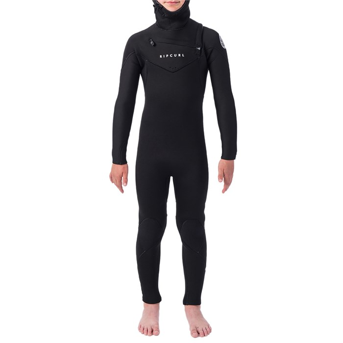 Rip Curl - 5/4 Dawn Patrol Chest Zip Hooded Wetsuit - Boys'