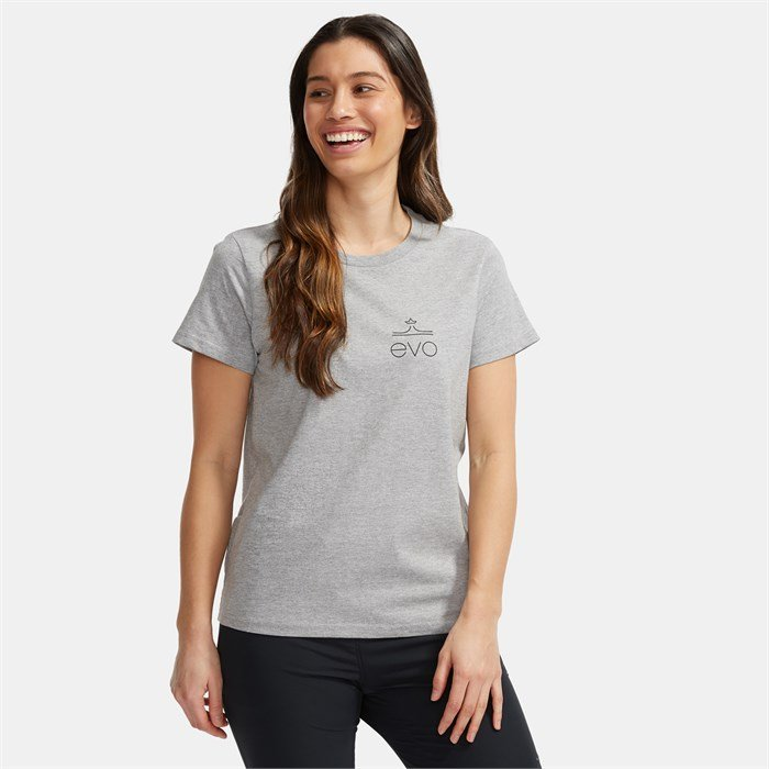 evo - Square Light Logo T-Shirt - Women's