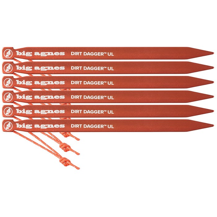 "Big Agnes - Dirt Dagger UL 6"" Tent Stakes - Set of 6"