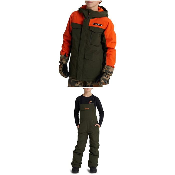 Burton - Covert Jacket - Boys' + Skylar Bibs - Kids'