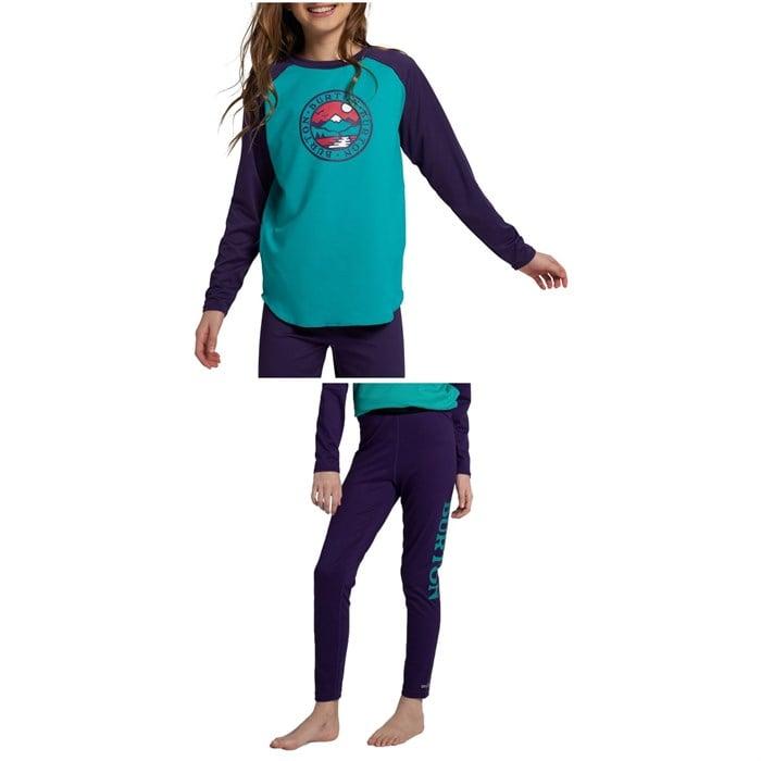 Burton - Midweight Base Layer Tech T-Shirt + Midweight Base Layer Pants - Kids'