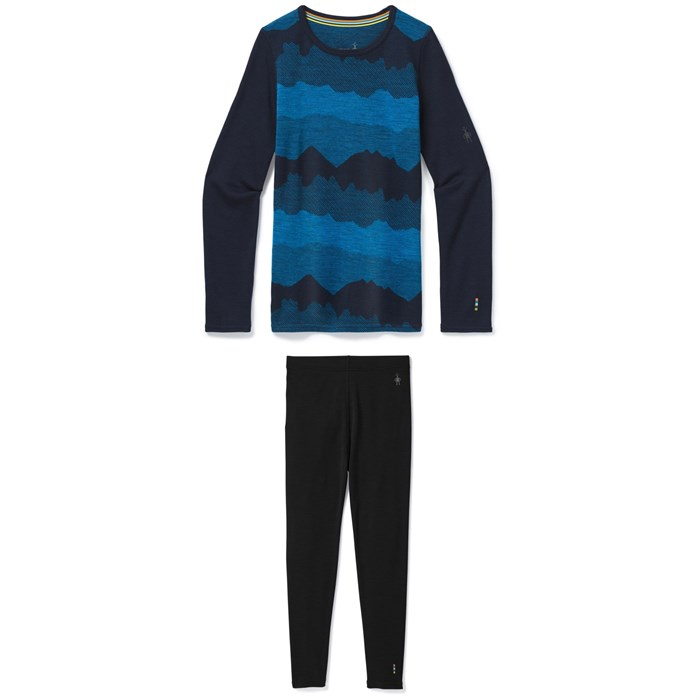 Smartwool - Merino 250 Baselayer Pattern Crew + Merino 250 Baselayer Bottoms - Kids'