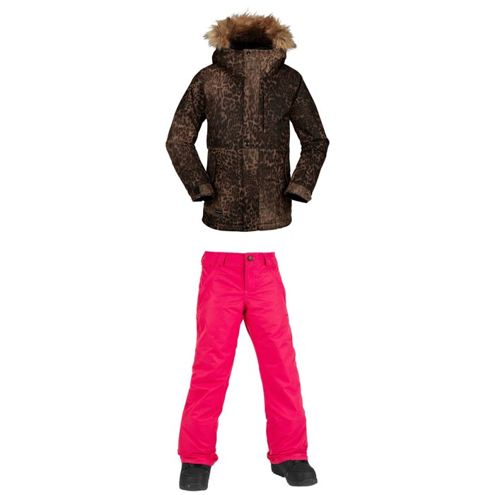 Volcom - So Minty Insulated Jacket + Frochickidee Insulated Pants - Girls'
