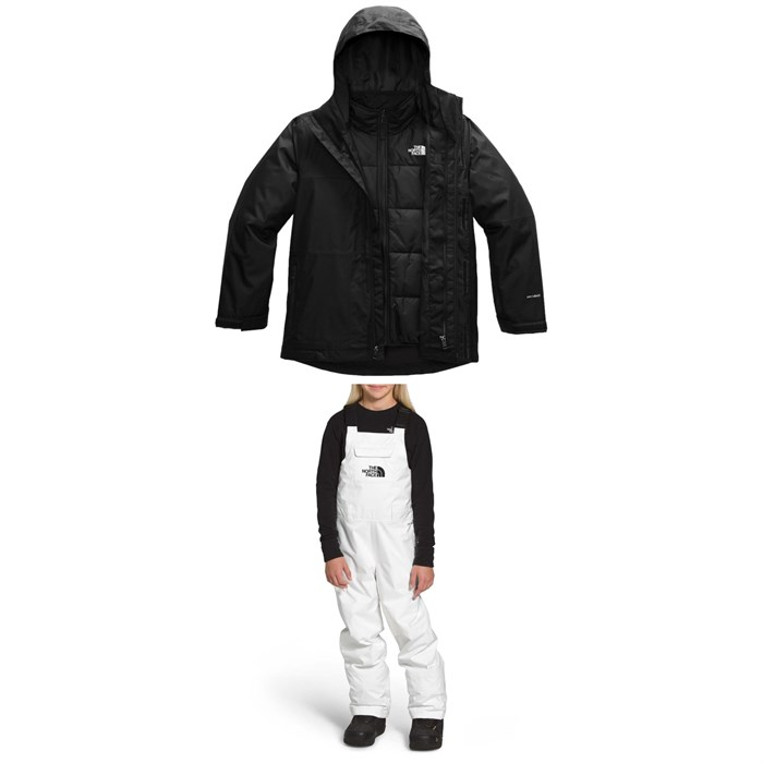 The North Face - Freedom Triclimate Jacket - Boys' + Freedom Insulated Bibs - Kids'