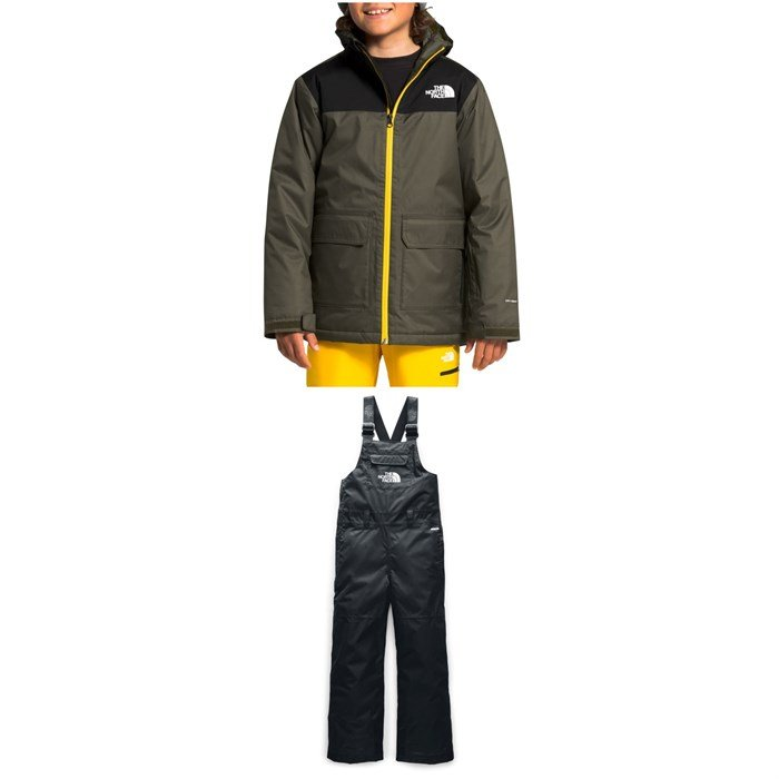 The North Face - Freedom Insulated Jacket - Boys' + Freedom Insulated Bibs - Big Kids'