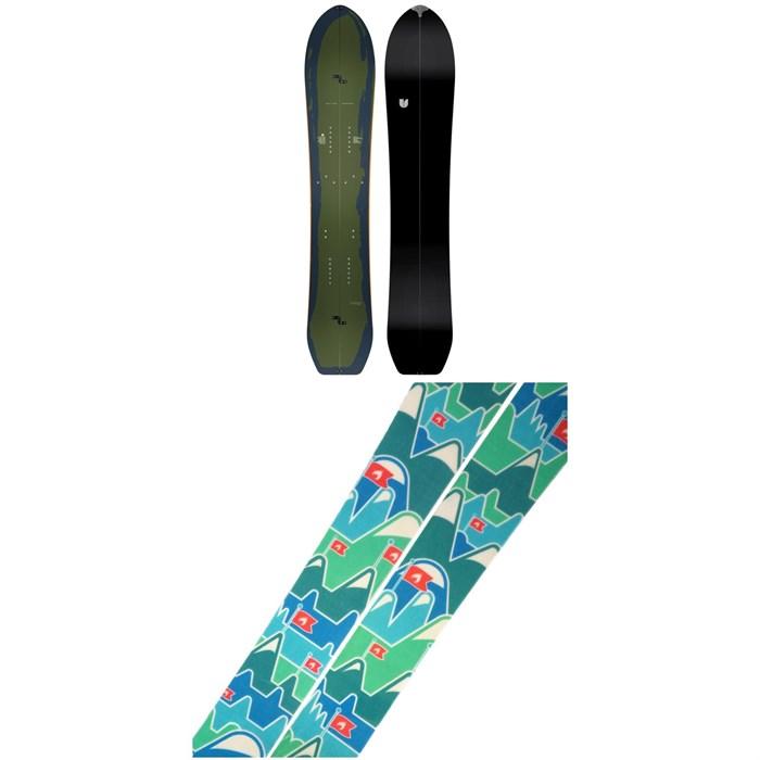 United Shapes - Covert Splitboard 2021 + Spark R&D Summit Skins Splitboard Skins