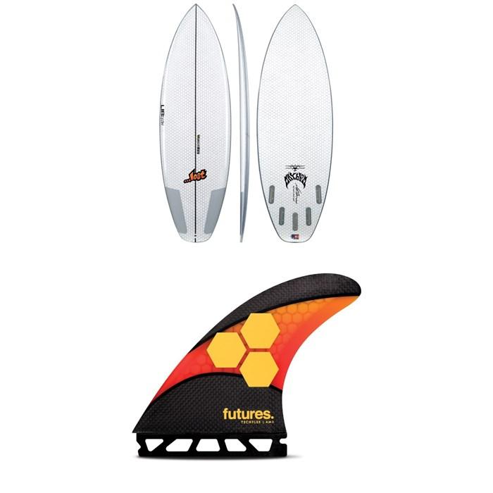 Lib Tech - x Lost Puddle Jumper HP (Futures) Surfboard + Futures AM2 Large Techflex Tri Fin Set