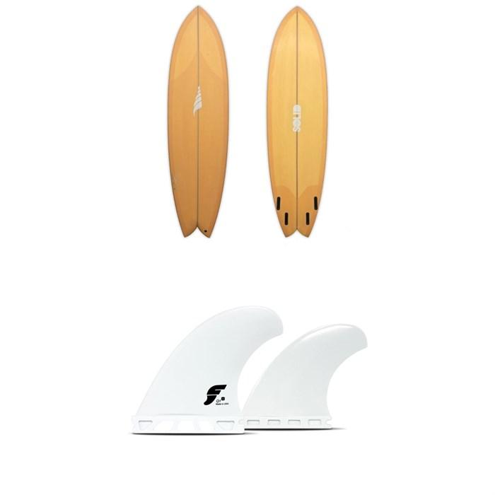 Solid Surf Co - Pescador Surfboard + Futures V2Q1 Medium Thermotech Quad Fin Set
