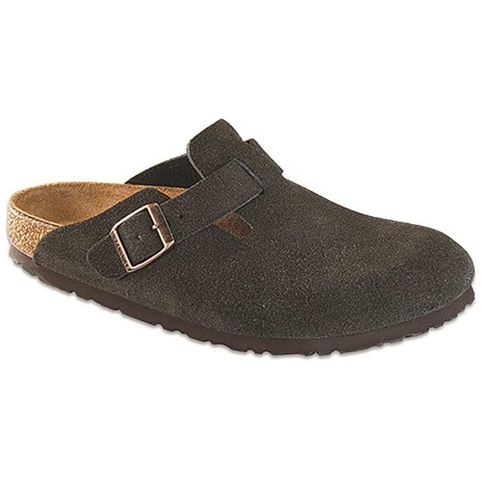 Birkenstock - Boston Suede Soft Footbed Clogs