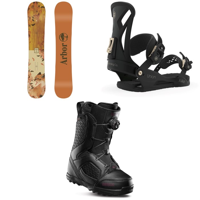 Arbor - Cadence Rocker Snowboard + Union Juliet Snowboard Bindings + thirtytwo STW Boa Snowboard Boots - Women's 2020