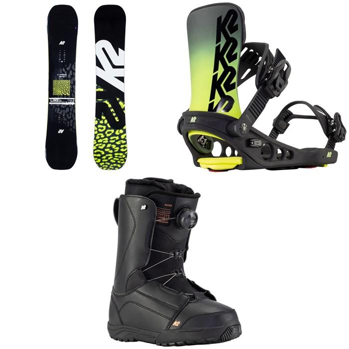 K2 - Lime Lite Snowboard + Meridian Snowboard Bindings + Haven Snowboard Boots - Women's 2021