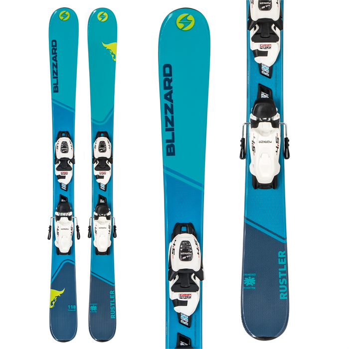 Blizzard - Rustler Twin Jr Skis + 7.0 FDT WB Bindings - Big Boys' 2019