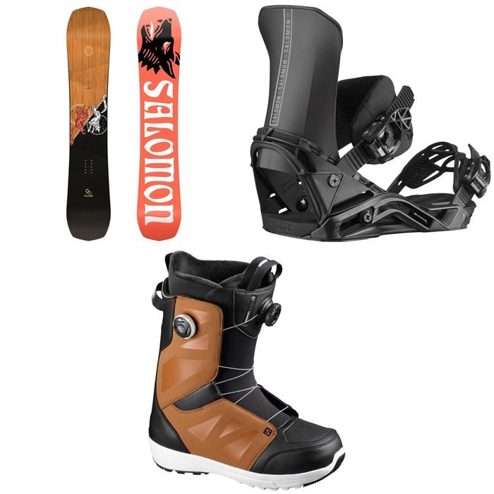 Salomon - Assassin Snowboard + District Snowboard Bindings + Launch Boa SJ Snowboard Boots 2021