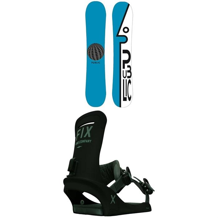 Public Snowboards - General Snowboard + Fix Truce Snowboard Bindings 2021