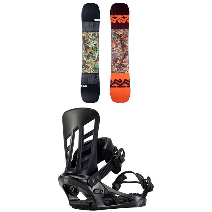 K2 - Afterblack Snowboard + Indy Snowboard Bindings 2021