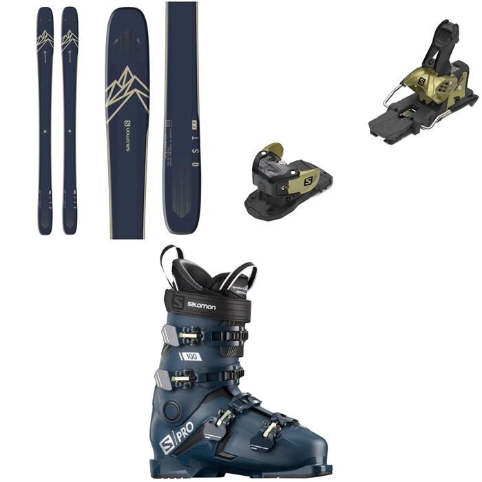 Salomon - QST 99 Skis + Warden MNC 13 Ski Bindings + S/Pro 100 Ski Boots 2021