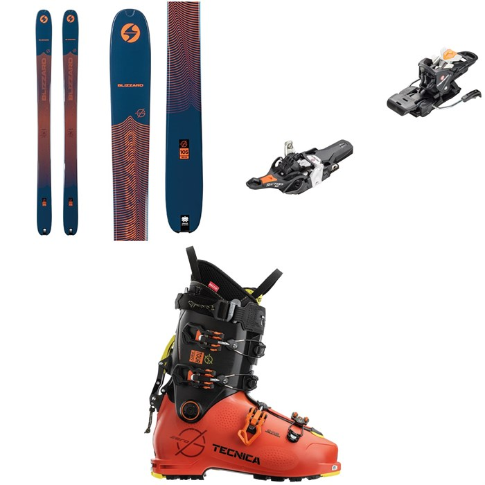 Blizzard - Zero G 105 Skis + Fritschi Tecton 12 Alpine Touring Ski Bindings + Tecnica Zero G Tour Pro Alpine Touring Ski Boots 2021
