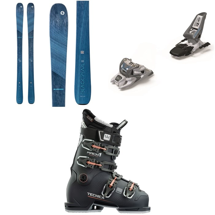 Blizzard - Black Pearl 88 Skis - Women's + Marker Squire 11 ID Ski Bindings + Tecnica Mach1 MV 95 W Ski Boots - Women's 2021