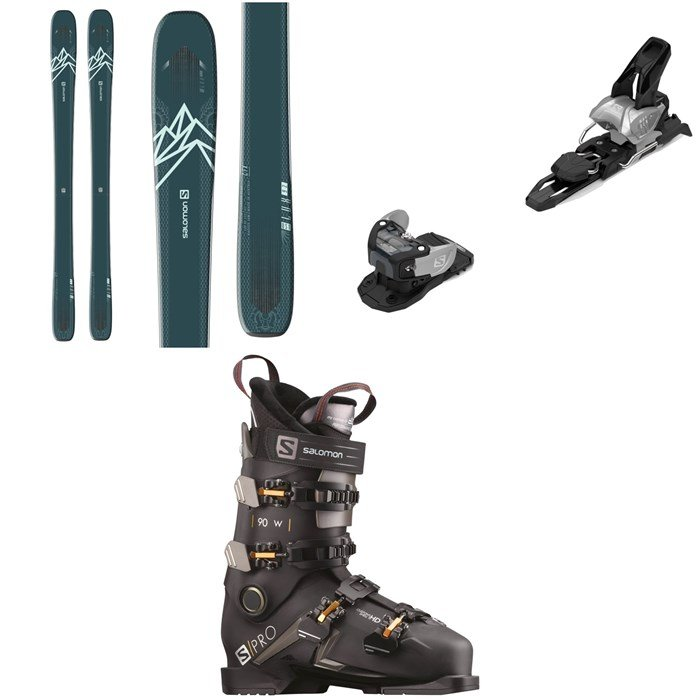 Salomon - QST Lux 92 Skis - Women's + Warden MNC 11 Ski Bindings + S/Pro 90 W Ski Boots - Women's 2021