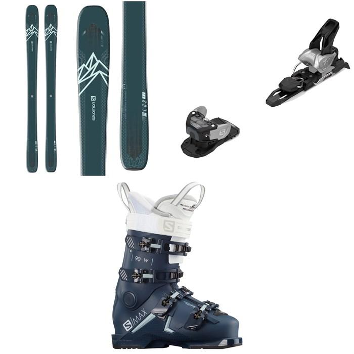 Salomon - QST Lux 92 Skis - Women's + Warden MNC 11 Ski Bindings + S/Max 90 W Ski Boots - Women's 2021
