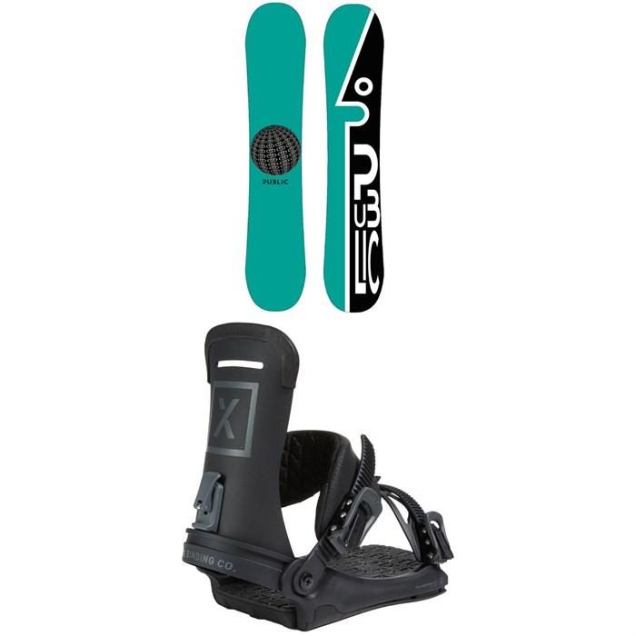 Public Snowboards - General Snowboard + Fix Yale Ltd Snowboard Bindings 2021