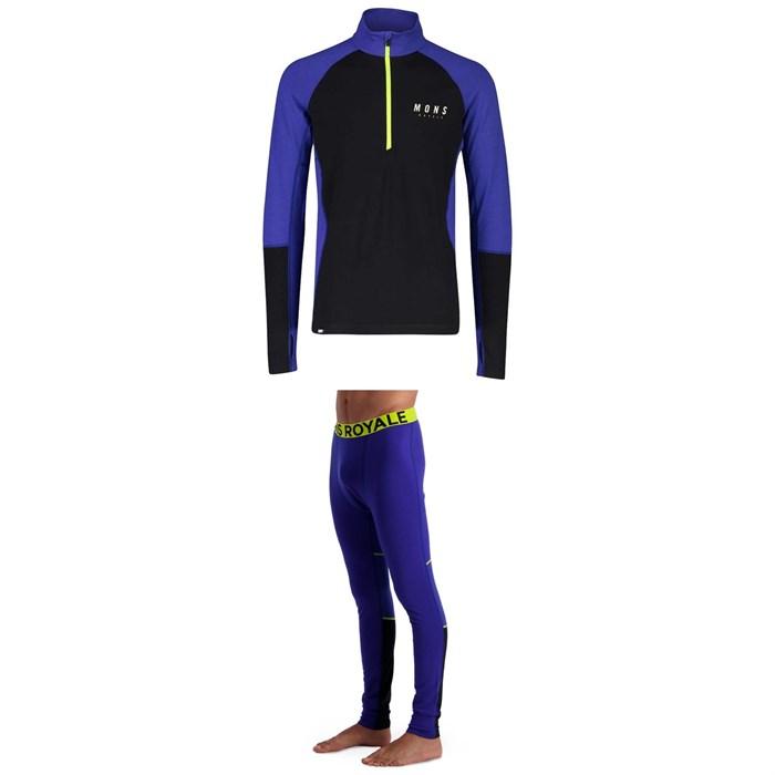 MONS ROYALE - Olympus 3.0 Half Zip Long Sleeve Top + Leggings