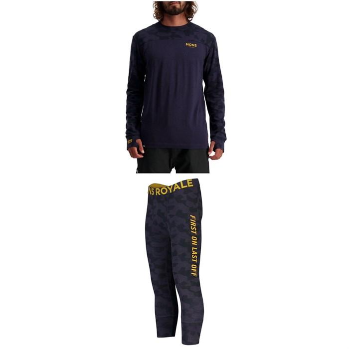 MONS ROYALE - Yotei Tech Long Sleeve Top + Shaun-Off 3/4 Leggings