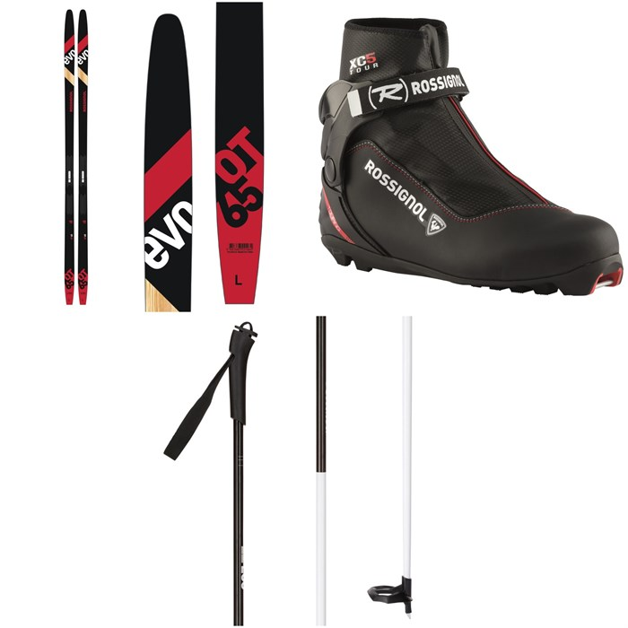 Rossignol - Evo OT 65 Positrack Cross Country Skis + Control Step In Bindings 2021 + XC-5 Cross Country Boots + FT-500 Poles 2021