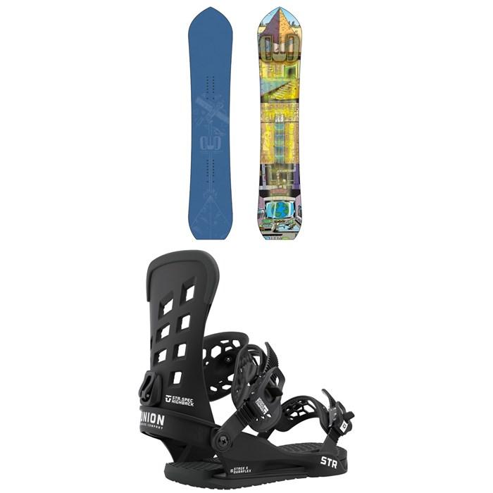 Dinosaurs Will Die - Wizard Stick Snowboard + Union STR Snowboard Bindings 2021