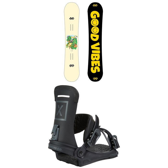 Dinosaurs Will Die - maeT Snowboard + Fix Yale Ltd Snowboard Bindings 2021
