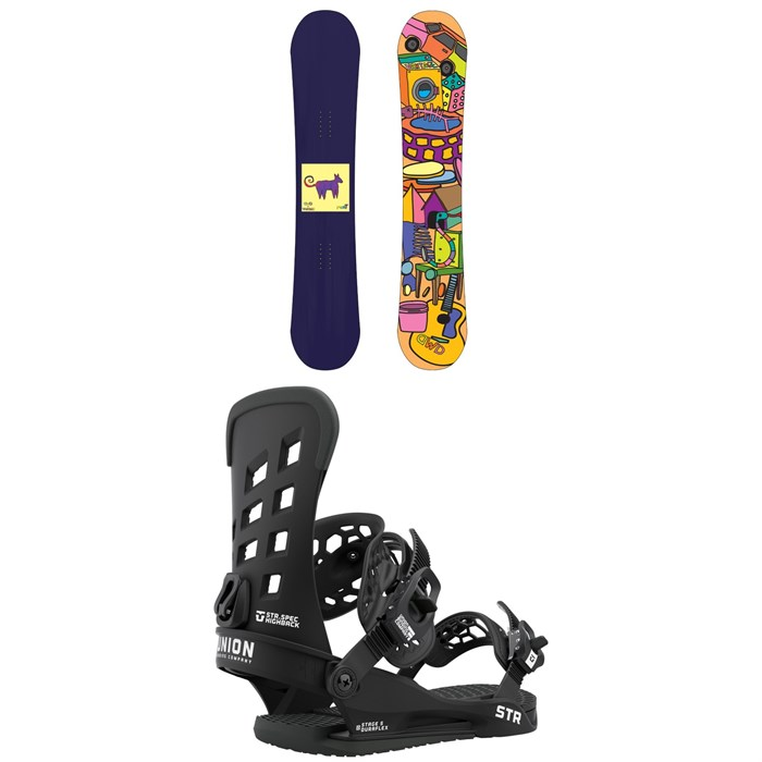 Dinosaurs Will Die - maeT Snowboard + Union STR Snowboard Bindings 2021