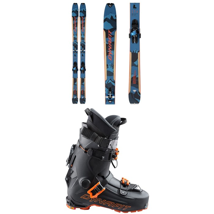 Dynafit - Seven Summits+ Complete Alpine Touring Ski Set + Dynafit Hoji Pro Tour Alpine Touring Ski Boots 2021