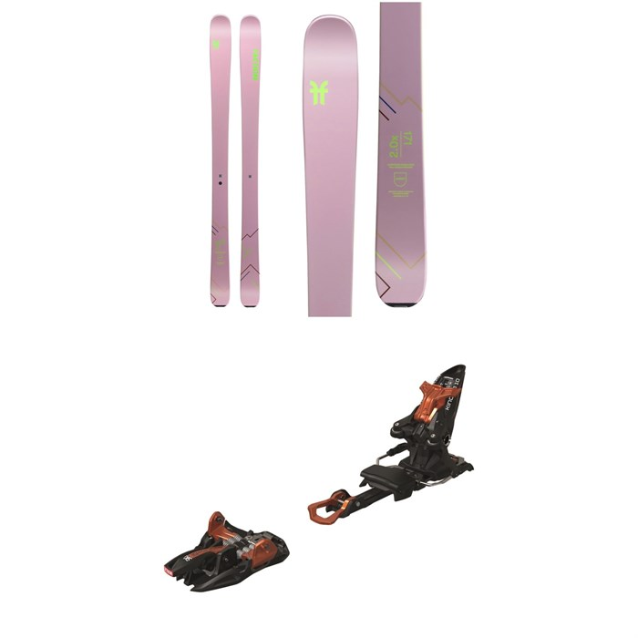 Faction - Agent 2.0X Skis - Women's + Marker Kingpin 10 Alpine Touring Ski Bindings 2020