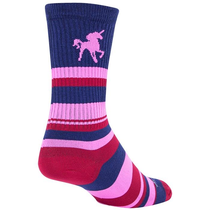 "SockGuy - Pink Unicorn 6"" Crew Socks"