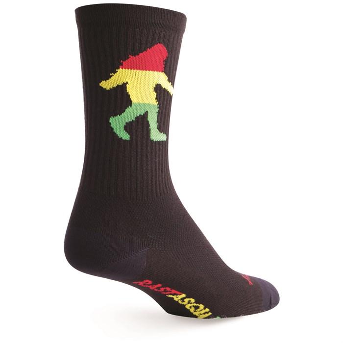 """SockGuy - Rasta Squatch 6"""" Crew Socks"""