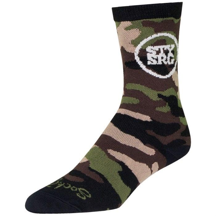 "SockGuy - Stay Strong Camo 6"" Crew Socks"