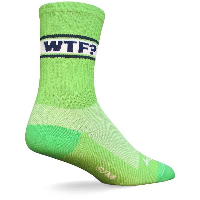 """SockGuy - WTF? 6"""" Crew Socks"""