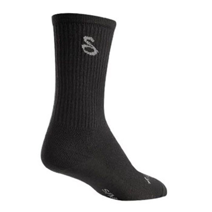 "SockGuy - Black 6"" Wool Crew Socks"