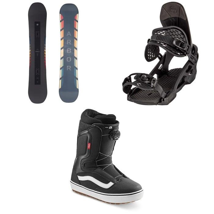 Arbor - Formula Camber Snowboard + Spruce Snowboard Bindings + Vans Aura OG Snowboard Boots 2021