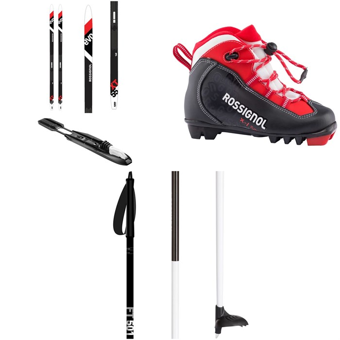 Rossignol - Evo Action 55 Jr Cross Country Skis + Tour Step In Jr Bindings + X-1 Jr Classic Boots+ FT-501 Poles - Kids' 2021