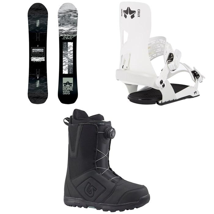 Rome - Warden Snowboard 2020 + Crux SE Snowboard Bindings 2020 + Burton Moto Boa Snowboard Boots 2018