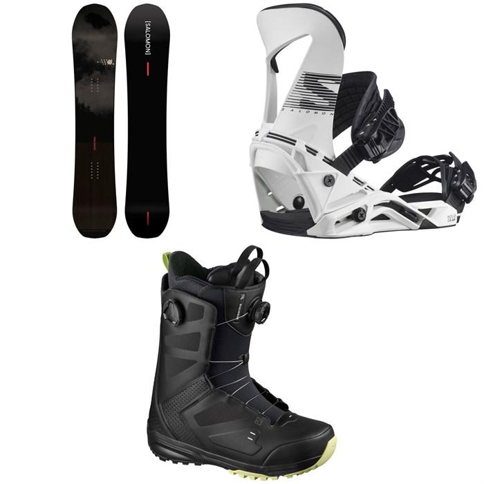 Salomon - Super 8 Pro Snowboard + Hologram Snowboard Bindings + Dialogue Focus Boa Snowboard Boots 2021