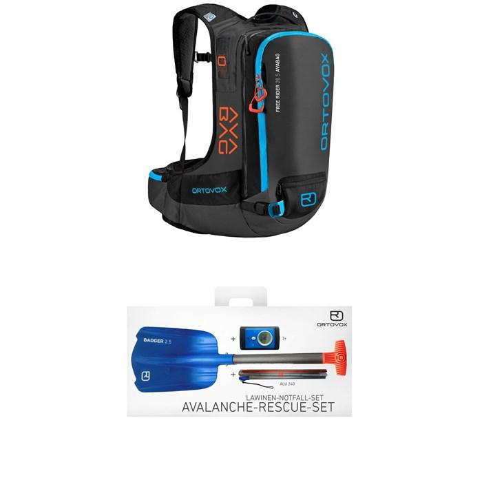 Ortovox - Free Rider 20L S Avabag Kit Airbag + 3+ Avalanche Rescue Kit