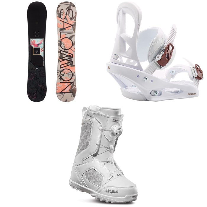Salomon - Wonder X Snowboard + Burton Stiletto Snowboard Bindings + thirtytwo STW Boa Snowboard Boots - Women's 2020