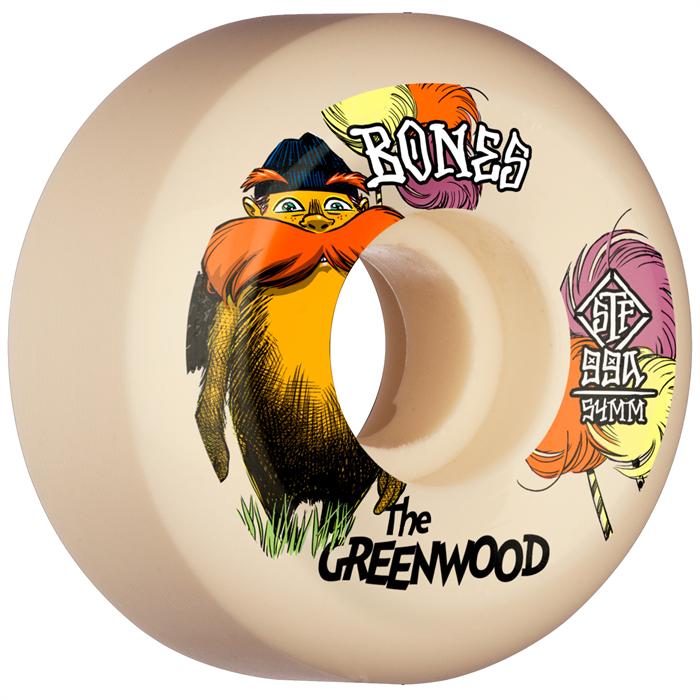 Bones - The Greenwood STF Sidecuts 99a V5 Skateboard Wheels