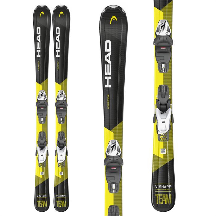 Head - V-Shape Team Skis + SLR 7.5 GW Bindings - Boys' 2021