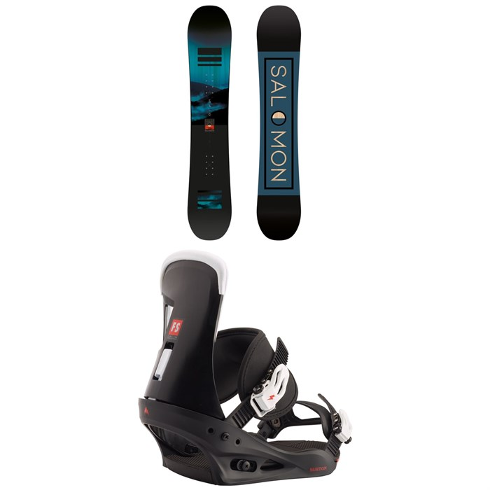 Salomon - Pulse Snowboard + Burton Freestyle Snowboard Bindings 2021