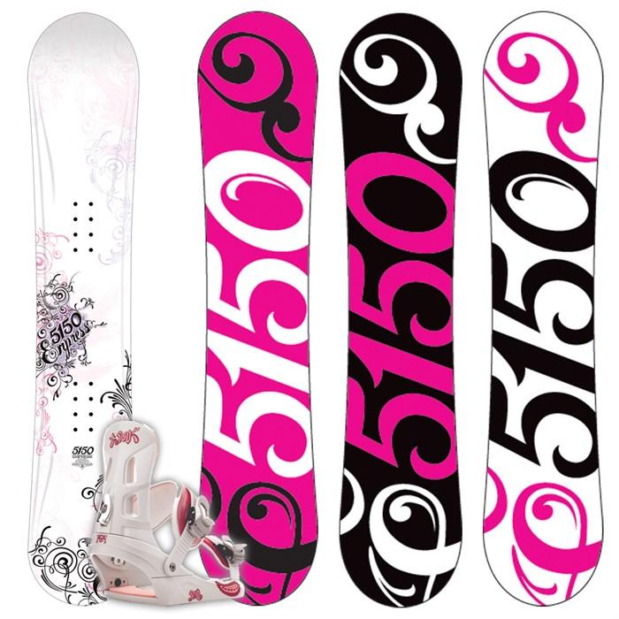 5150 Empress Snowboard + Empress Bindings - Women's 2009